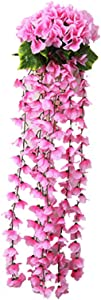 YXGS 1 Pack Decorative Fake Flower Artificial Flower Vine, For Home Hotel Office Wedding Party Garden Decor