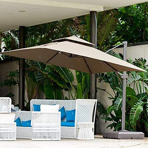 AIMCAE Sombrilla Rectangular, sombrilla de Patio de 4x3m, sombrilla de jardín con rotación de 360 °, sombrilla de compensación Ajustable, sombrilla en voladizo, sombrilla de plátano
