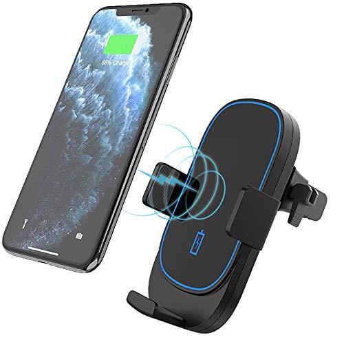 Kdely Wireless Charger Auto Qi Auto Handyhalterung KFZ mit Ladestation 10W Schnellladegerät für iPhone 11/11 Pro Max/XR/XS/XS Max/X/8,Samsung Galaxy Z Filp/S20/S20+/S10/S10e/S9/S8/, Huawei Mate 20 Pro