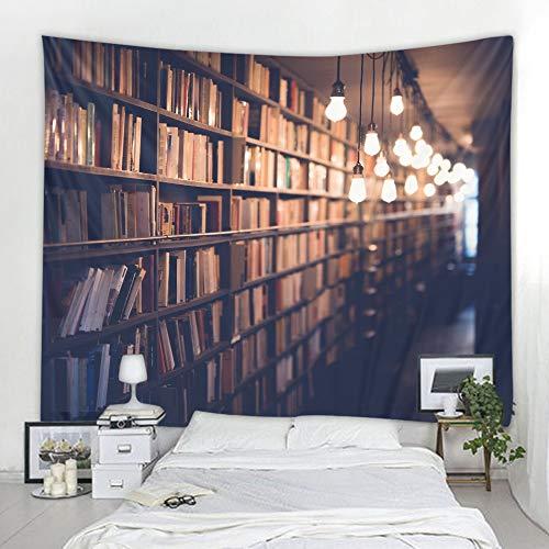FYIPOR tapizTapiz de Lingxia de estantería de Biblioteca ecológica Que Imprime Tela para Colgar Decorativa Suave y fácil de cuidar