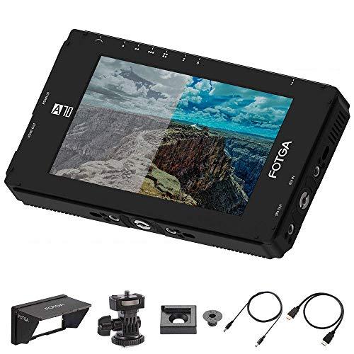 Fotga DP500IIIS A70TL 7-Zoll Touchscreen Full HD IPS Bildschirm Camera Field Monitor Kamera Feldmonitor 3D-LUT, 1920x1080, 4K-HDMI-Ein-/Ausgang, doppelte NP-F-Batterieplatte für DSLR A7 A7R 5D III GH5