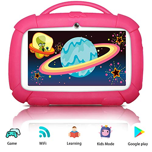 Kids Tablets, Android Tablet for Kids, 16GB ROM, IPS Eye Protection Display, Kids Tablet with WiFi Dual Camera Parental Control Kid-Proof Case and Learning Games, Best Gift for Boys Girls
