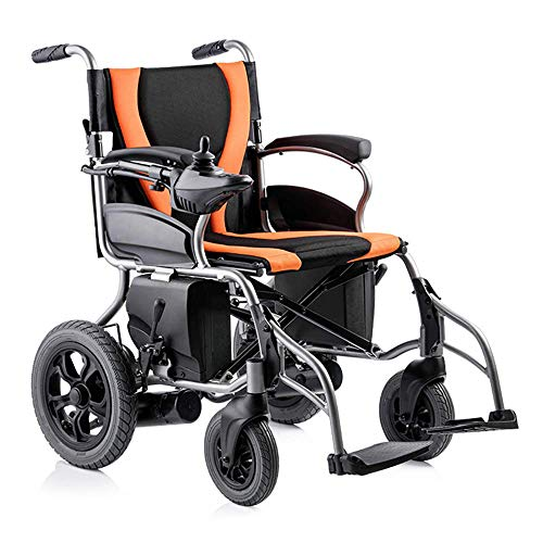 WDDMFR Folding Lightweight Wheelchair, Fully Automatic Intelligent Portable Wheelchair, Electric Wheelchair Folding Elderly Lightweight Scooter, Electric Wheelchair for Family and Outdoor Use