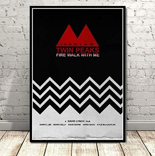 Wc-asdcc Leinwand Malerei Poster und Drucke Twin Peaks TV-Serie zeigt Classic Movie Anime Art Wandbilder Home Decor 50x70cm CDG147