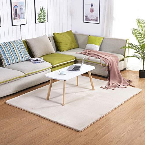 HXJHWB Living laagpolig tapijt slaapkamer nacht pluche salontafel modern minimalistische imitatie voor de woonkamer konijnenvel