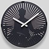 Orologio da parete decorativo, orologio da parete dinamico del salotto creativo, progettazione umanizzata Hole appeso, il modello si muoverà da solo, for soggiorno / bagno/ camera da letto/ ufficio