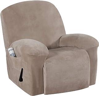H.VERSAILTEX Real Velvet Sofa Cover for Recliner Sofa Slipcovers Stylish Modern Velvet Plush Furniture Cover/Protector, St...