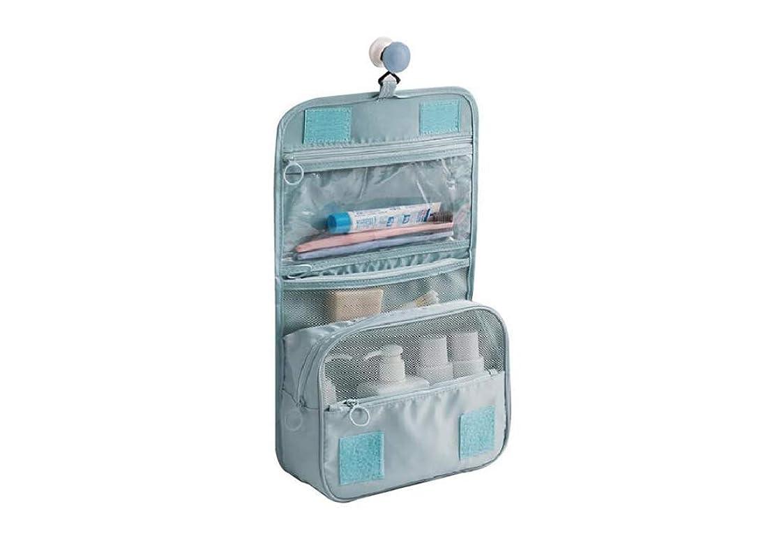 男らしさ接地等価LSHJP 女性のためのポータブル旅行吊りトイレタリーバッグ防水化粧品メイクポーチ収納袋男性大容量 (Color : 青, Size : ワンサイズ)