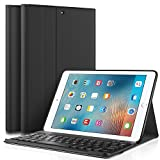 KuGi New iPad 9.7 2018 Keyboard case, Ultra Lightweight Stand Portfolio Cover case with Detacha…