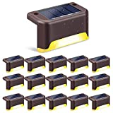 Solar Deck Lights 16 Pcs, StillCool Outdoor Waterproof LED Solar Step Lights for Stairs, Pathway, Walkways,...