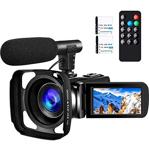Camcorder Video Camera ,Ultra HD 2.7K Vlogging Camera 30 FPS 24MP Wifi Camcorders with...