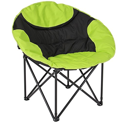 Best Choice Products Outdoor Foldable Lightweight Camping Sports Chair w/Large Pocket, Carrying Bag- Green