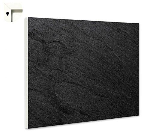 Magnettafel Pinnwand Motiv Muster Schiefer schwarz Größe 80 x 60 cm