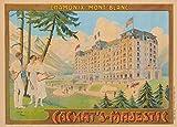 Vintage Travel Frankreich für chamonix-mont-blanc und