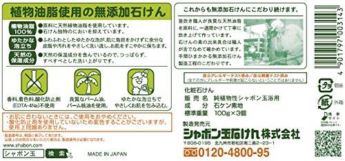 シャボン玉純植物性シャボン玉浴用100g×3個
