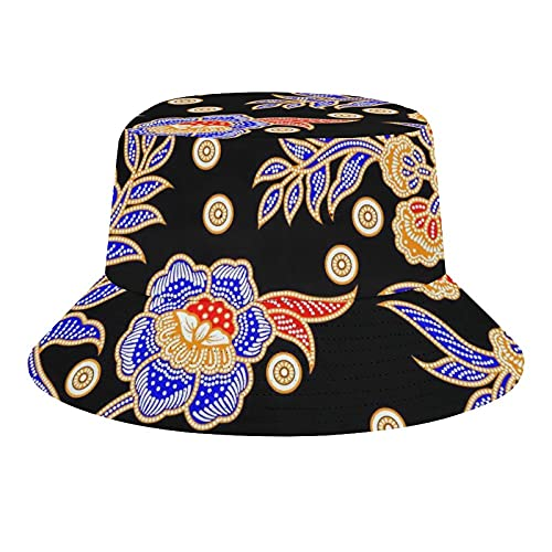 MEITD Sombreros de cubo de verano de viaje playa sombrero de sol al aire libre unisex rosas, Blanco-estilo11, 7/7 1/8