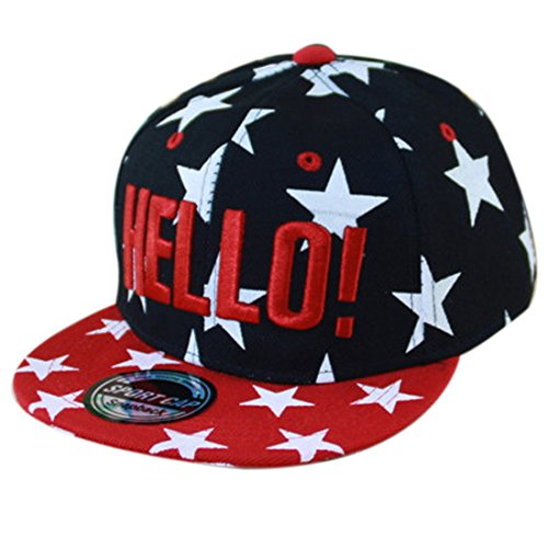 Thenice Kind Hip-Hop Cap Baseball Kappe Hut (Star schwarz)