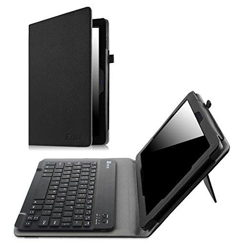 """Fintie Tastatur Hülle für Dragon Touch X10 Tablet 10.6\"""" Android Tablet - Kunstleder Folio Schutzhülle mit Abnehmbare Bluetooth-Tastatur Keyboard Cover, Schwarz"""
