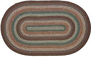 IHF Home Decor Jute Braided Rug Serenity | Oval Indoor Outdoor Area Rug Floor Carpet | Blue, Serenity, Tan Handmade Collec...