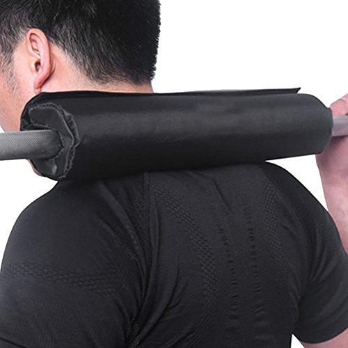 Lionina Langhantel-Pad, professionelles strapazierfähiges Gewichtheben, passend für Standard-Stangen für Schulter-, Nacken-, Rücken- und Hüftschutz bei Kniebeugen und Hüftstößen, Schwarz