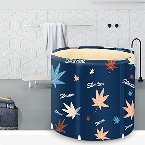 MQW Faltbare Badewanne Japanischen Stil Erwachsene Badewanne Haushalt Tragbare Badewanne Ahornblatt Beheizbare Bad Barrel Verdickungs Isolierungs Badefass Ganzkörper Bad Barrel Dämpfen Dual-Use,D70cm