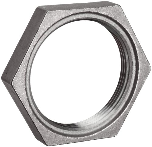 "Stainless Steel 304 Cast Pipe Fitting, Hex Locknut, MSS SP-114, 1"" NPT Female"