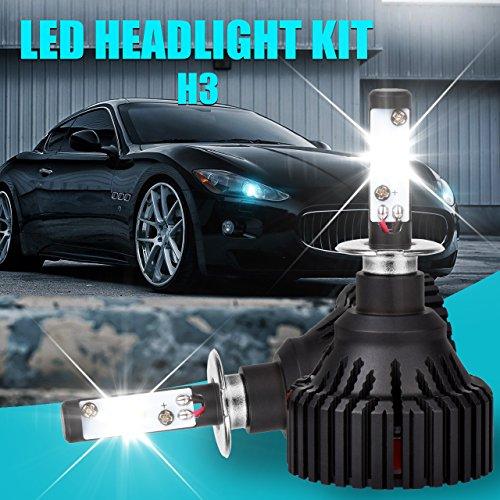 TUINCYN H3 Ampoules LED 8 000 lumens extrêmement lumineuses CREE XHP50 Chip Kit de conversion de phare Blanc 6500K