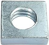 AERZETIX - Juego de 100 tuercas cuadradas M6 planas perfil bajo 10.0x3.0mm rosca métrica hembra - en acero al carbono - DIN 562 - C49558