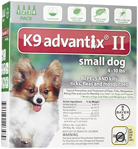 Bayer Animal Health K9 Advantix II Small Dog 4-Pack