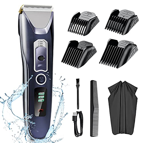 2021 New Hair Clippers Set for Men, Mens Hair Beard Trimmer Ceramic Blade, Professional Barbers Hair Cutting Kit for Baby Men's Head Face, Cordless & Corded Grooming Kit Rechargeable