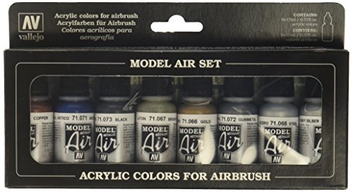 Vallejo Model Air Set, Set de Colores Acrílicos para