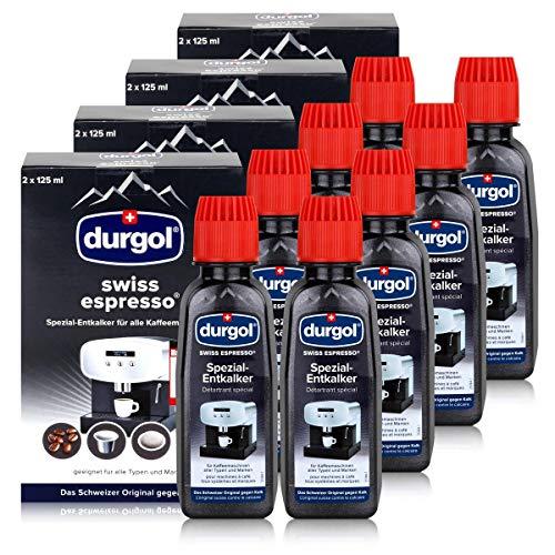 Durgol swiss espresso, Spezial-Entkalker für hochwertige Espressomaschinen - 250ml - 4x