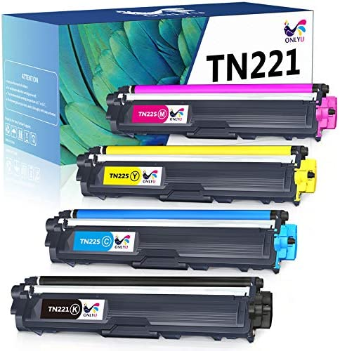 ONLYU Compatible Toner Cartridge Replacement for Brother TN221 TN225 Work with Brother HL 3170CDW product image