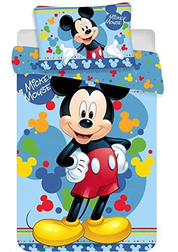 Disney Mickey Mouse - Juego de Cama para bebé (135 x 100 cm)