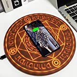 XYEJL Chargeur sans Fil Magic Array Round Wireless Charger Stand Pad Universal 10w Glowing Portable...