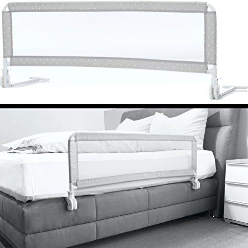 Kinder Bettschutzgitter EXTRA HOCH mit Befestigungsbändern optimal für Boxspringbett/Bett Standard