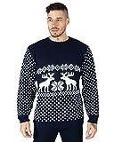 Maglione natalizio per uomo, motivo renne Navy X-Large