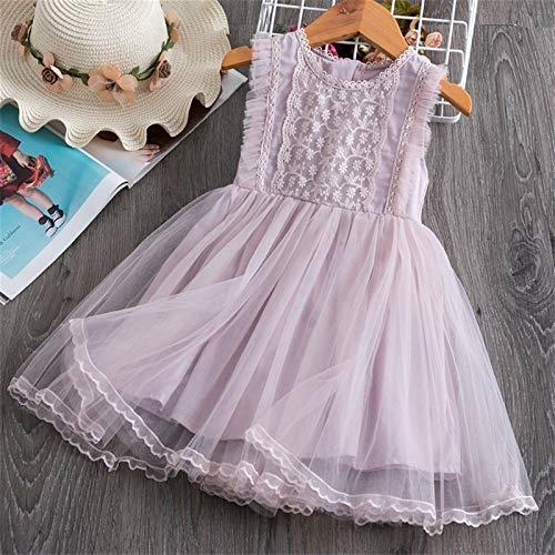 kengbi Komfortables und exquisites Kleid Kinder Kleider for Mädchen Kurzarm Kleid Pailletten Party Kostüm Fairy Sommer Puffy Kleid Regenbogen Kinder Kleidung (Color : 10 2, Kid Size : 8)