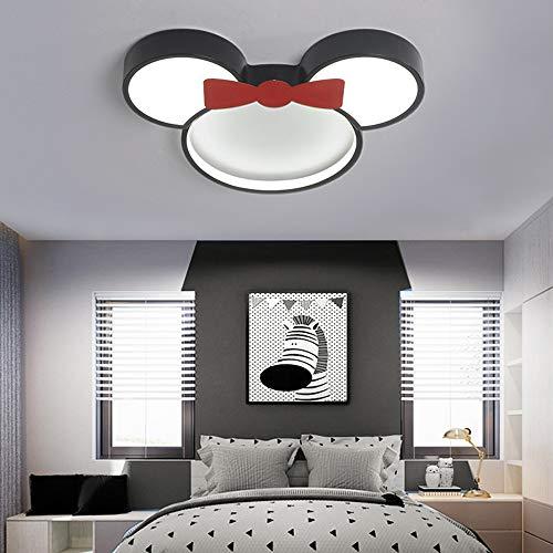 Luminaire Plafonnier LED pour chambre d'enfants 6000K lumière blanche abat-jour en métal Acrylique Disney Minnie lampe de plafond Garçon Fille chambre d'enfant chambre d'étude lampe,Ø50cm~24w