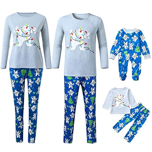 SERYU Christmas Family Pajamas Matching Sets Pajama Collection Long Sleeve Striped Reindeer Loungewear