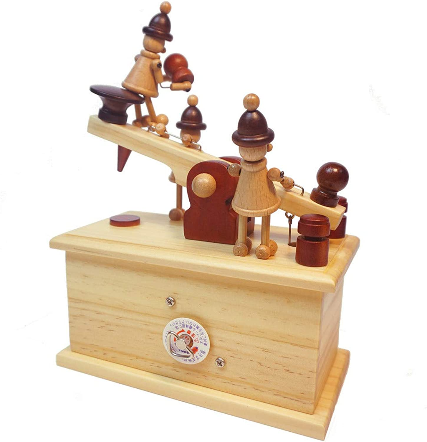 Yishelle Retro Vintage Printer & Telegraph Pattern Music Box Toy Hand-wooden Music Box Creative Wooden Crafts Gifts for Kids, Birthday, Xmas, Valentine's Day (color   Telegraph)