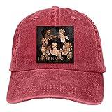 MERCHA Unisex Adjustable Washed Dyed Baseball Caps Fifth Harmony Reflection Snapback Street Rapper Hat Red