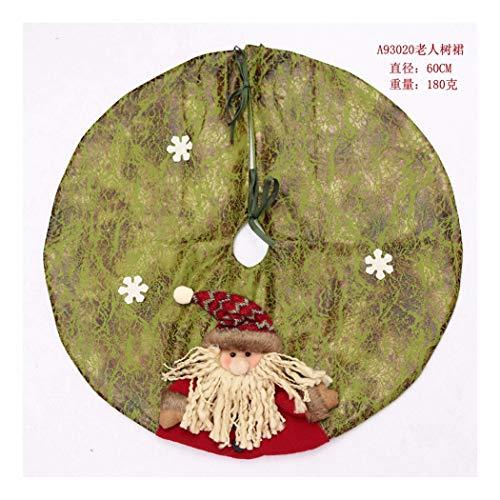 SDSQSCL Albero di Natale Gonna Cartoon Pupazzo di Neve di Natale Pattern Vacanze di Natale Decorazioni Indoor Outdoor