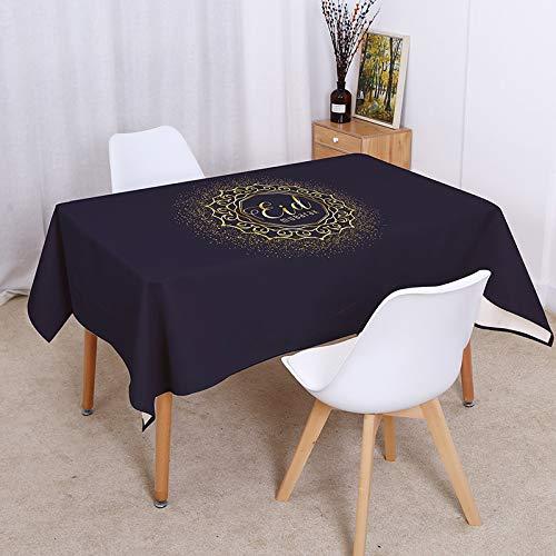 sans_marque Mantel de hule, aspecto de lino, paño de cera, 100 x 140 cm