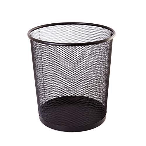 TIPTOP OFFICE TTO Papierkorb aus Drahtmetall 12 Liter, Kunststoff, Schwarz, Medium