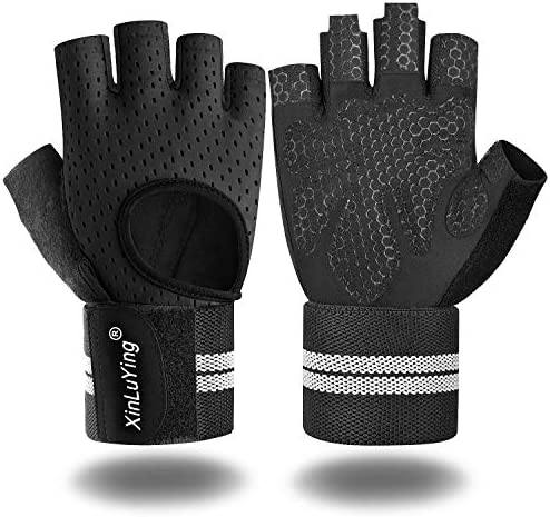 Xinluying Workout Gloves for Men Women Gym Training Gloves with Wrist Support for Fitness Exercise product image