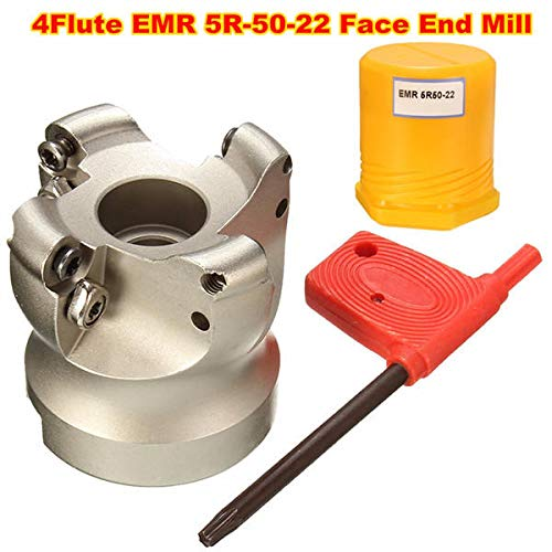5R-50-22 4 Flutes Face Cutter Milling Cutter For Flat Cutting - Cutting Tool Milling Tool - 1pc x Face mill cutter