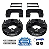 Supreme Suspensions - Front Lift Kit for 2007-2020 Chevrolet Silverado 1500 and GMC Sierra 1500 3.5' Front Lift Top & Bottom Strut Spacers 2WD 4WD (Black)