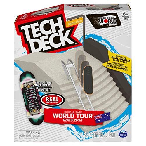 TECH DECK, Build-A-Park World Tour, Martin Place (Australia), Ramp Set with Real Skateboards Chima Ferguson Bandwidth Oval Signature Fingerboard