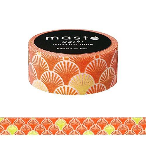 Maste orange Seigaiha Washi Tape